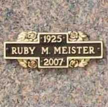 ANDERSON MEISTER, RUBY MAXINE - Benton County, Arkansas | RUBY MAXINE ANDERSON MEISTER - Arkansas Gravestone Photos