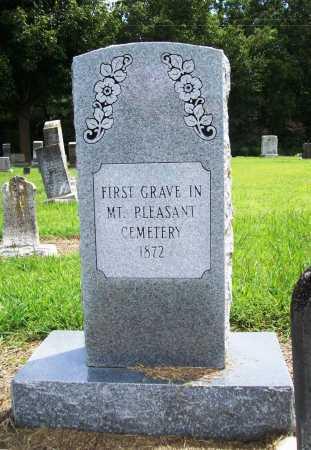 MEMORIAL, FIRST GRAVE - Benton County, Arkansas | FIRST GRAVE MEMORIAL - Arkansas Gravestone Photos