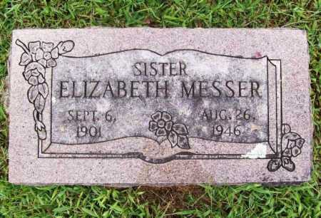 MESSER, ELIZABETH - Benton County, Arkansas | ELIZABETH MESSER - Arkansas Gravestone Photos