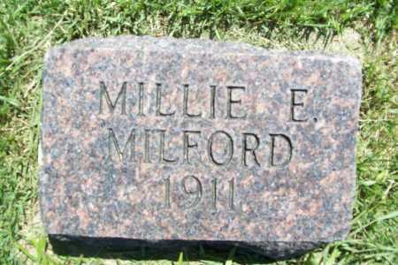 MILFORD, MILLIE E. - Benton County, Arkansas | MILLIE E. MILFORD - Arkansas Gravestone Photos
