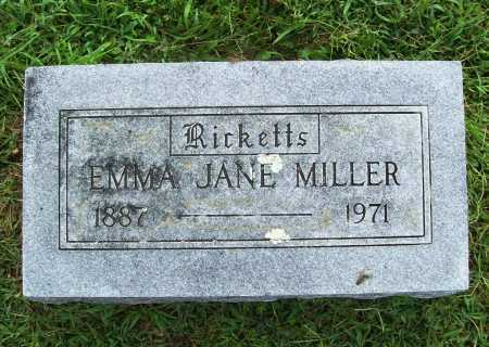 RICKETTS MILLER, EMMA JANE - Benton County, Arkansas | EMMA JANE RICKETTS MILLER - Arkansas Gravestone Photos