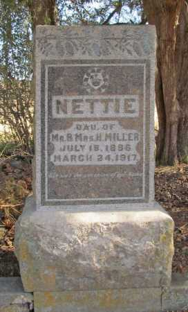 MILLER, NETTIE - Benton County, Arkansas | NETTIE MILLER - Arkansas Gravestone Photos