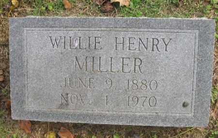 MILLER, WILLIE HENRY - Benton County, Arkansas | WILLIE HENRY MILLER - Arkansas Gravestone Photos