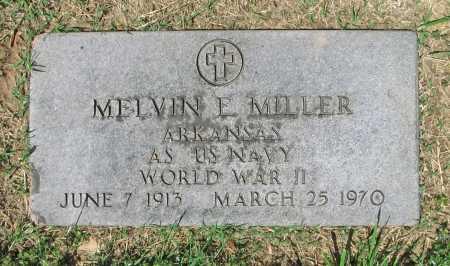 MILLER (VETERAN WWII), MELVIN E. - Benton County, Arkansas | MELVIN E. MILLER (VETERAN WWII) - Arkansas Gravestone Photos