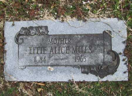 MILLS, EFFIE ALICE - Benton County, Arkansas | EFFIE ALICE MILLS - Arkansas Gravestone Photos