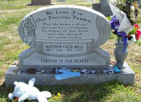 MILLS, MATTHEW CALEB - Benton County, Arkansas   MATTHEW CALEB MILLS - Arkansas Gravestone Photos
