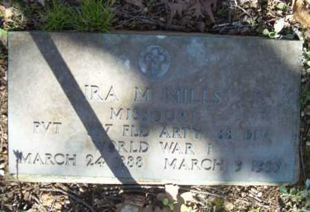 MILLS (VETERAN WWI), IRA M - Benton County, Arkansas | IRA M MILLS (VETERAN WWI) - Arkansas Gravestone Photos
