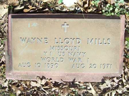 MILLS (VETERAN WWI), WAYNE LLOYD - Benton County, Arkansas | WAYNE LLOYD MILLS (VETERAN WWI) - Arkansas Gravestone Photos