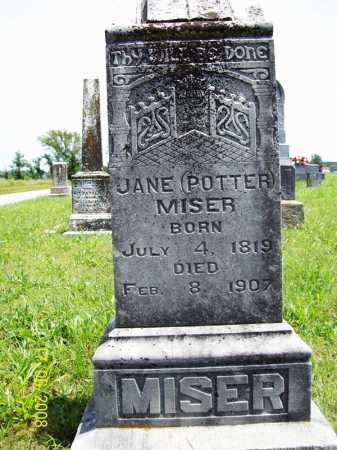 POTTER MISER, JANE - Benton County, Arkansas | JANE POTTER MISER - Arkansas Gravestone Photos
