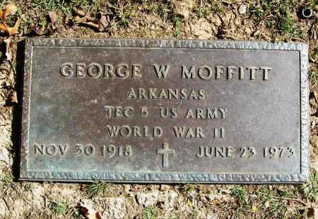 MOFFITT (VETERAN WWII), GEORGE W - Benton County, Arkansas | GEORGE W MOFFITT (VETERAN WWII) - Arkansas Gravestone Photos