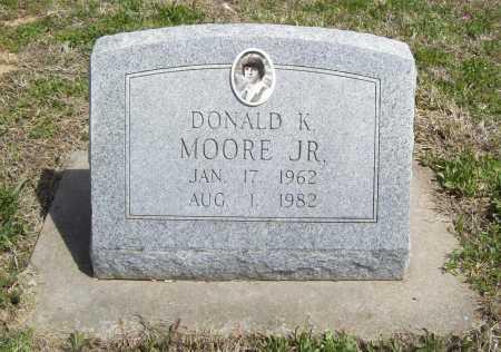 MOORE, DONALD K. JR. - Benton County, Arkansas | DONALD K. JR. MOORE - Arkansas Gravestone Photos