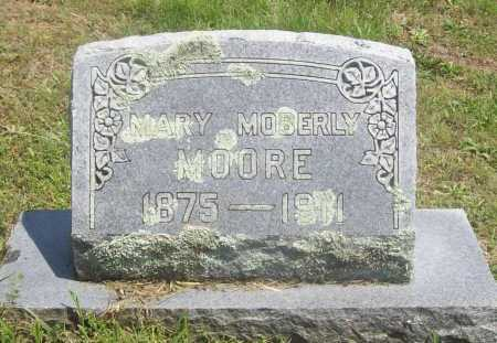 MOBERLY MOORE, MARY - Benton County, Arkansas | MARY MOBERLY MOORE - Arkansas Gravestone Photos