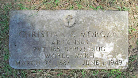MORGAN (VETERAN WWI), CHRISTIAN E - Benton County, Arkansas | CHRISTIAN E MORGAN (VETERAN WWI) - Arkansas Gravestone Photos