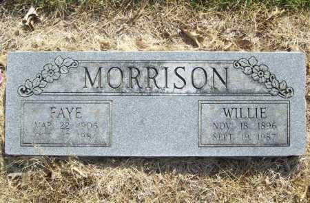 MORRISON, WILLIE - Benton County, Arkansas | WILLIE MORRISON - Arkansas Gravestone Photos