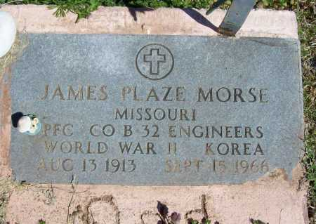 MORSE (VETERAN 2 WARS), JAMES PLAZE - Benton County, Arkansas | JAMES PLAZE MORSE (VETERAN 2 WARS) - Arkansas Gravestone Photos