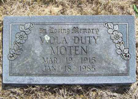 DUTY MOTEN, VIOLA - Benton County, Arkansas | VIOLA DUTY MOTEN - Arkansas Gravestone Photos