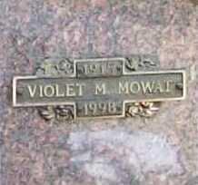 MOWAT, VIOLET M. - Benton County, Arkansas | VIOLET M. MOWAT - Arkansas Gravestone Photos
