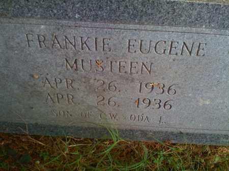 MUSTEEN, FRANKIE EUGENE - Benton County, Arkansas | FRANKIE EUGENE MUSTEEN - Arkansas Gravestone Photos