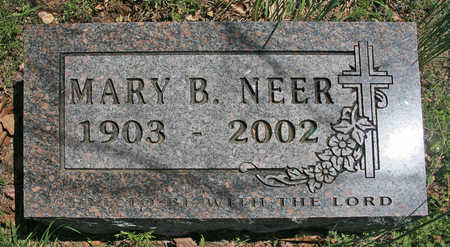 NEER, MARY B - Benton County, Arkansas | MARY B NEER - Arkansas Gravestone Photos