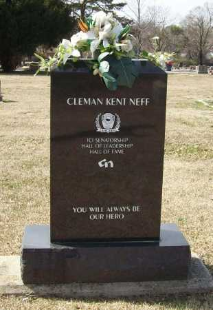 NEFF (BACK), CLEMAN KENT - Benton County, Arkansas | CLEMAN KENT NEFF (BACK) - Arkansas Gravestone Photos