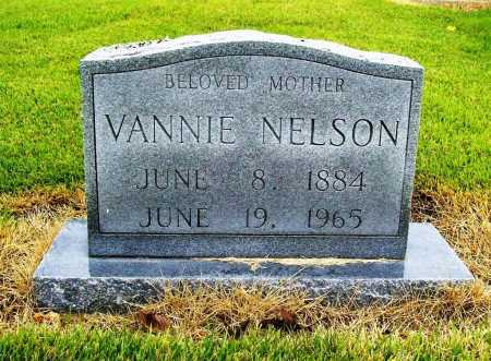NELSON, VANNIE - Benton County, Arkansas | VANNIE NELSON - Arkansas Gravestone Photos