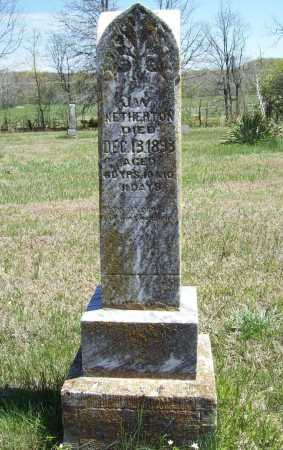 NETHERTON, JAMES W - Benton County, Arkansas | JAMES W NETHERTON - Arkansas Gravestone Photos