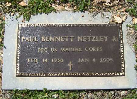 NETZLEY, JR (VETERAN), PAUL BENNETT - Benton County, Arkansas | PAUL BENNETT NETZLEY, JR (VETERAN) - Arkansas Gravestone Photos