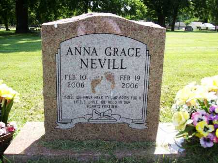 NEVILL, ANNA GRACE - Benton County, Arkansas | ANNA GRACE NEVILL - Arkansas Gravestone Photos
