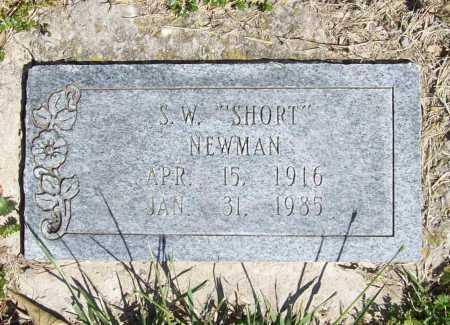 "NEWMAN, S. W. ""SHORT"" - Benton County, Arkansas | S. W. ""SHORT"" NEWMAN - Arkansas Gravestone Photos"