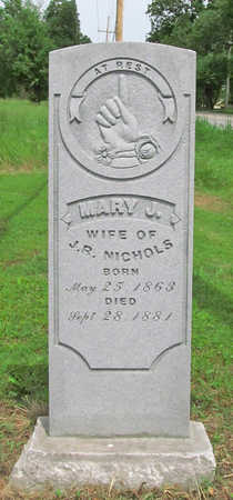 NICHOLS, MARY J - Benton County, Arkansas | MARY J NICHOLS - Arkansas Gravestone Photos