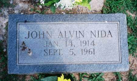 NIDA, JOHN ALVIN - Benton County, Arkansas | JOHN ALVIN NIDA - Arkansas Gravestone Photos