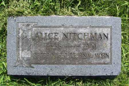 NITCHMAN, ALICE - Benton County, Arkansas | ALICE NITCHMAN - Arkansas Gravestone Photos
