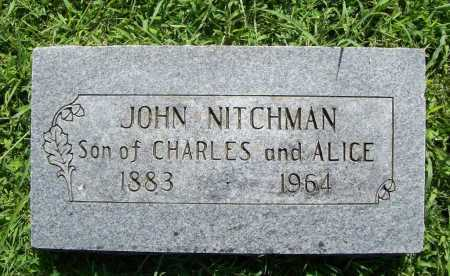 NITCHMAN, JOHN - Benton County, Arkansas | JOHN NITCHMAN - Arkansas Gravestone Photos