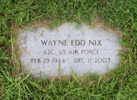 NIX (VETERAN), WAYNE EDD - Benton County, Arkansas | WAYNE EDD NIX (VETERAN) - Arkansas Gravestone Photos