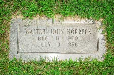 NORBECK, WALTER JOHN - Benton County, Arkansas | WALTER JOHN NORBECK - Arkansas Gravestone Photos