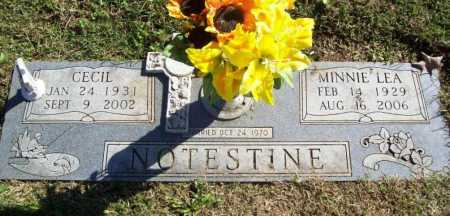 NOTESTINE, MINNIE LEA - Benton County, Arkansas | MINNIE LEA NOTESTINE - Arkansas Gravestone Photos