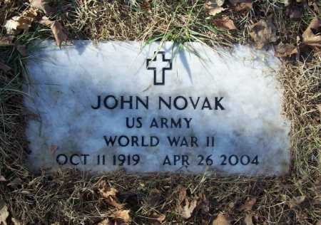 NOVAK (VETERAN WWII), JOHN - Benton County, Arkansas | JOHN NOVAK (VETERAN WWII) - Arkansas Gravestone Photos