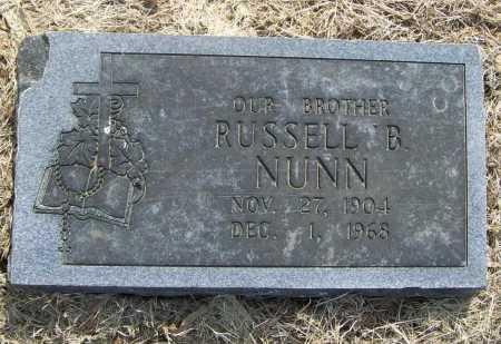 NUNN, RUSSELL B. - Benton County, Arkansas | RUSSELL B. NUNN - Arkansas Gravestone Photos