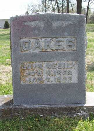 OAKES, JOHN WESLEY - Benton County, Arkansas | JOHN WESLEY OAKES - Arkansas Gravestone Photos