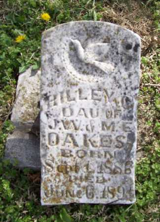 "OAKES, MARILLA CLYDE ""RILLEY"" - Benton County, Arkansas 