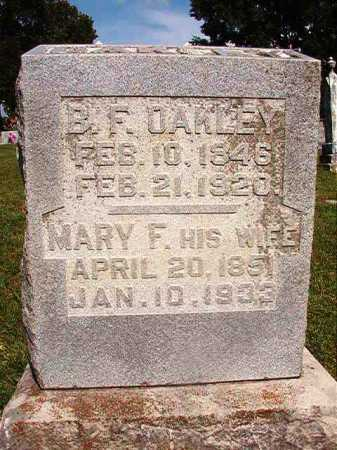 OAKLEY, BENJAMIN F. - Benton County, Arkansas | BENJAMIN F. OAKLEY - Arkansas Gravestone Photos