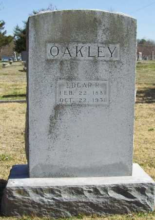 OAKLEY, EDGAR R. - Benton County, Arkansas | EDGAR R. OAKLEY - Arkansas Gravestone Photos