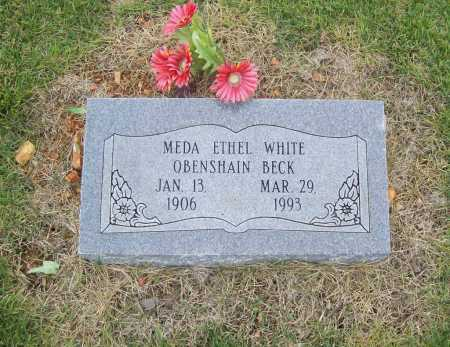 WHITE BECK, MEDA ETHEL - Benton County, Arkansas | MEDA ETHEL WHITE BECK - Arkansas Gravestone Photos