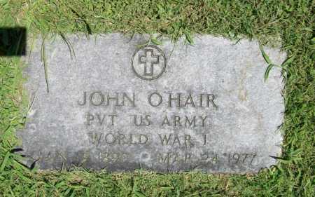 O'HAIR (VETERAN WWI), JOHN - Benton County, Arkansas | JOHN O'HAIR (VETERAN WWI) - Arkansas Gravestone Photos
