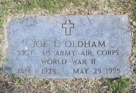 OLDHAM (VETERAN WWII), JOE L - Benton County, Arkansas | JOE L OLDHAM (VETERAN WWII) - Arkansas Gravestone Photos