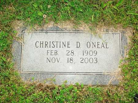 O'NEAL, CHRISTINE D. - Benton County, Arkansas | CHRISTINE D. O'NEAL - Arkansas Gravestone Photos