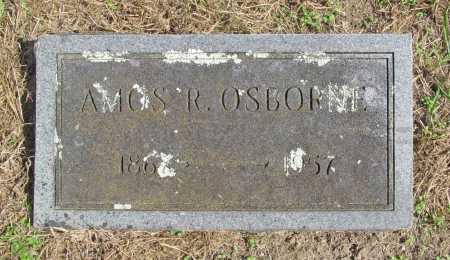 OSBORNE, AMOS R. - Benton County, Arkansas | AMOS R. OSBORNE - Arkansas Gravestone Photos