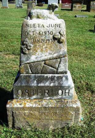 OSTERLOH, NEETA JUNE - Benton County, Arkansas | NEETA JUNE OSTERLOH - Arkansas Gravestone Photos