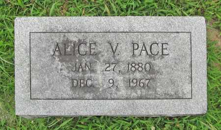 PACE, ALICE V. - Benton County, Arkansas | ALICE V. PACE - Arkansas Gravestone Photos