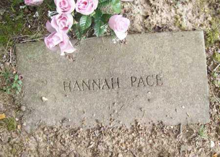 PACE, HANNAH - Benton County, Arkansas | HANNAH PACE - Arkansas Gravestone Photos